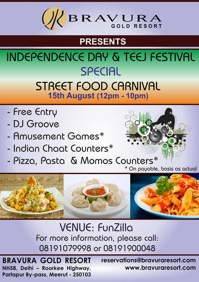 Enjoy STREET FOOD CARNIVAL at FunZilla on 15 August 2015