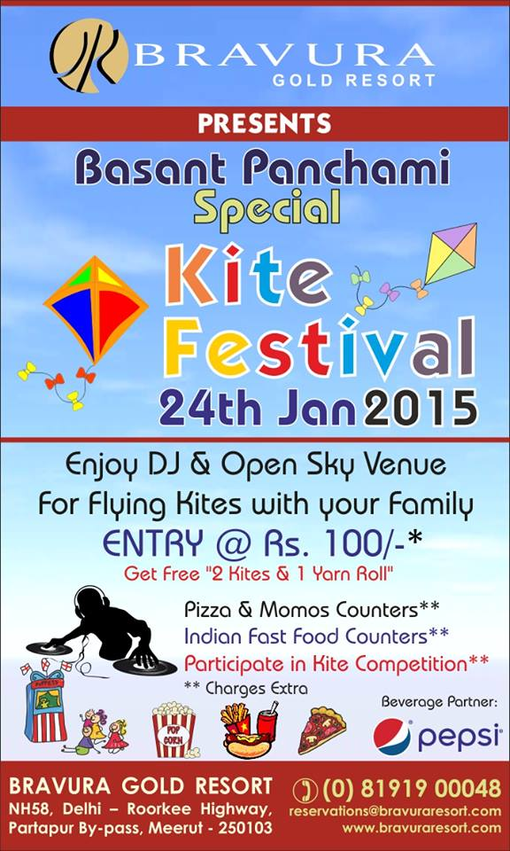 Bravura Gold Resort Presents Basant Panchami Special Kite Festival