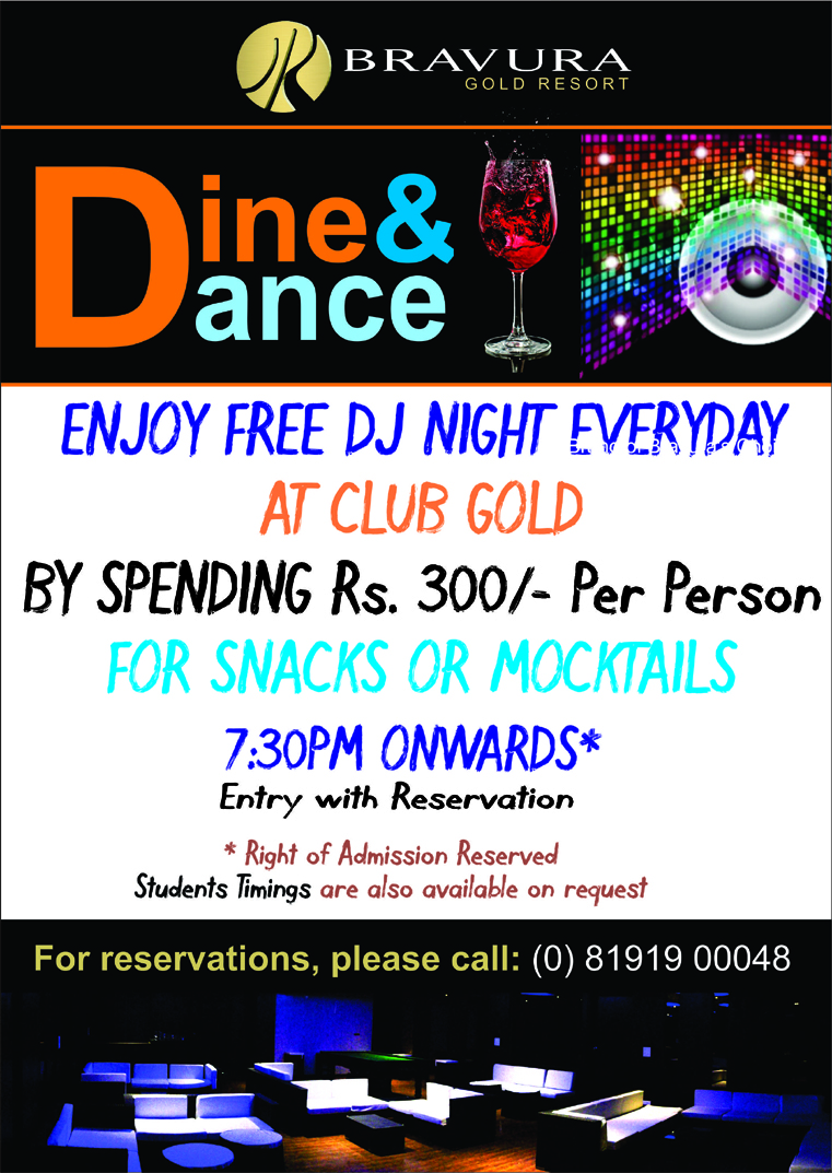 Dine & Dance Special Offer
