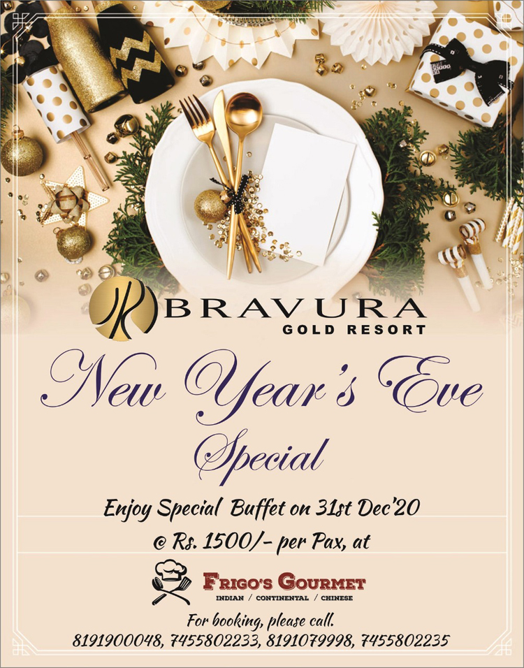 Enjoy New Year's Eve Special Buffet on 31st Dec, 2020