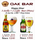 Enjoy Happy Hour at Oak Bar