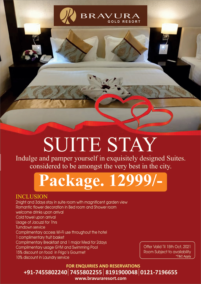 2 Nights and 3 Days Stay at Just Rs. 12999/-